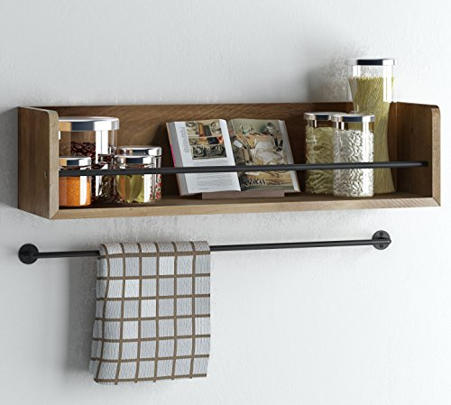 Set-of-2-Rustic-Kitchen-Wood-Wall-Shelf-with-Metal-Rail-Also-Multi-Use-Can-Be-Used-As-a-Spice-Rack-Living-Room-or-Bedroom-Wall-Shelf-Walnut-Stained-0-1