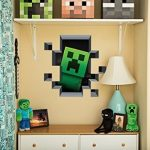 Set-of-4-LucyM-Wall-Decal-Digging-Steve-Creeper-Inside-Wall-Baby-Pig-Baby-Cow-0-1
