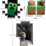 Set-of-4-LucyM-Wall-Decal-Digging-Steve-Creeper-Inside-Wall-Baby-Pig-Baby-Cow-0