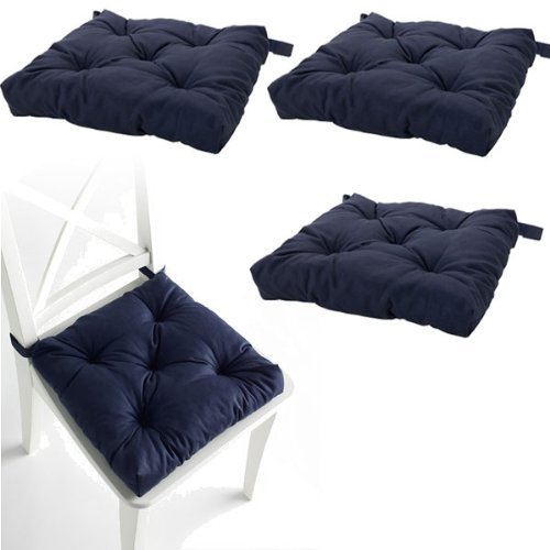 Set-of-4-Navy-Blue-Chair-Cushions-Pads-Machine-Washable-by-IKEA-0