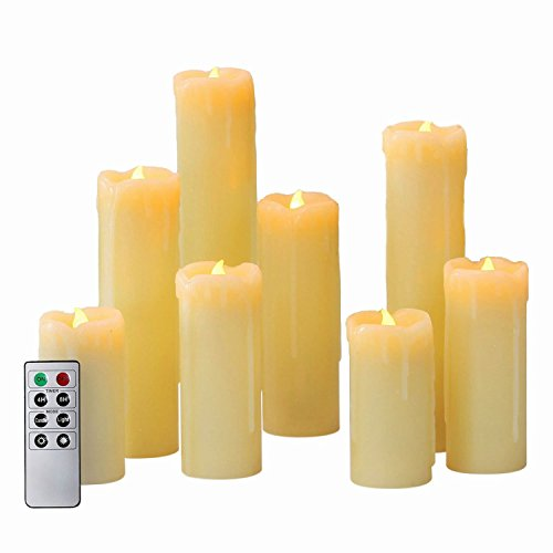 Set-of-8-Slim-Flameless-Wax-Candles-with-Bright-Warm-White-LEDs-0