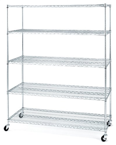 Seville-Classics-5-Shelf-Wire-Shelving-Rack-with-Wheels-24-x-60-x-72-Chrome-0