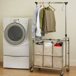 Seville-Classics-SHE16165-3-Bag-Laundry-Sorter-Cart-With-Hanging-Bar-0-0