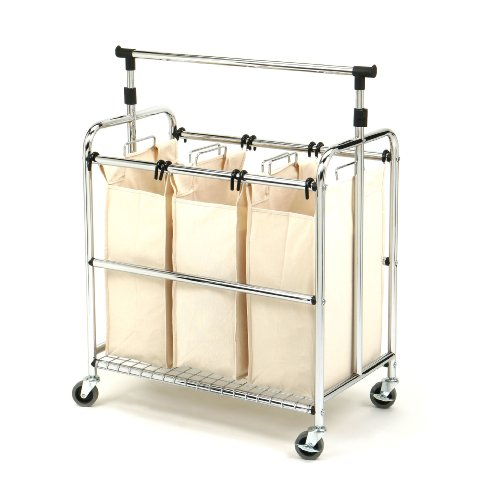 Seville-Classics-SHE16165-3-Bag-Laundry-Sorter-Cart-With-Hanging-Bar-0
