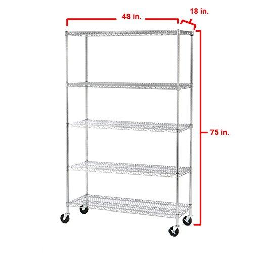 Seville-Classics-UltraZinc-5-Shelf-NSF-Wire-Shelving-Rack-with-Wheels-0-0