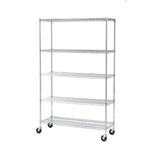 Seville-Classics-UltraZinc-5-Shelf-NSF-Wire-Shelving-Rack-with-Wheels-0