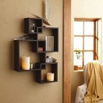 Shelving-Solution-Intersecting-Squares-Floating-Shelf-2-LED-Candles-Included-0