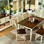 Signature-Design-by-Ashley-D583-25-Whitesburg-Collection-Dining-Room-Table-BrownCottage-White-0