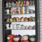Small-Wall-Mountable-Curio-Cabinet-Shadow-Box-with-Glass-Door-Mirrored-Back-CD06-0