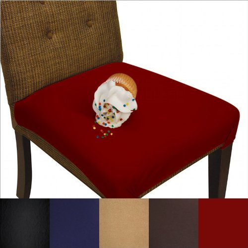 SmartSeat-Dining-Chair-Cover-and-Protector-Pack-of-2-Removable-Waterproof-Machine-Washable-Stain-Resistant-Soft-Comfortable-Fabric-for-Kids-Pets-Entertaining-Eldercare-0