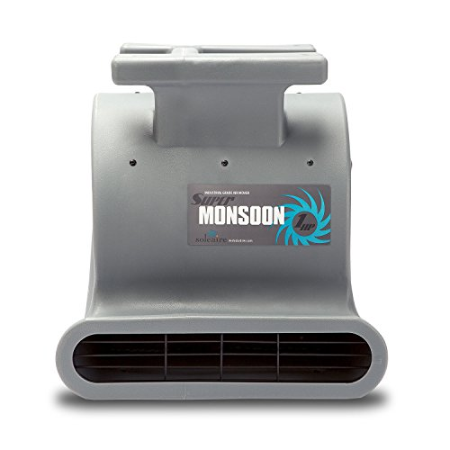 Soleaire-Super-Monsoon-SA-SM-1HP-GY-Grey-Air-Mover-Carpet-Dryers-for-Professional-Carpet-Cleaner-Janitoral-Floor-Dryer-Services-1-HP-CE-Certified-Water-Damage-Flood-Restoration-0