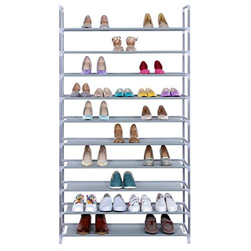 Songmics-10-Tiers-Shoe-Rack-50-Pairs-Non-woven-Fabric-Shoe-Tower-Storage-Organizer-Cabinet-ULSR10G-0-0