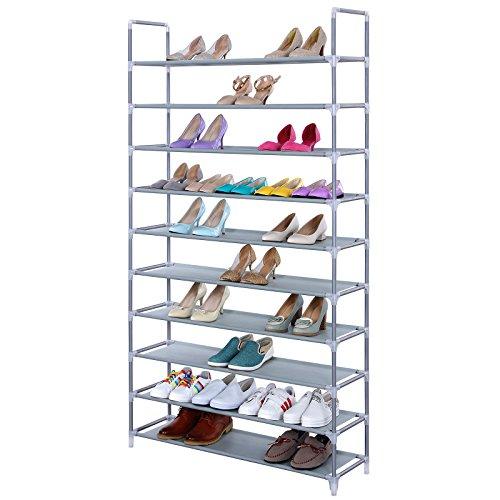 Songmics-10-Tiers-Shoe-Rack-50-Pairs-Non-woven-Fabric-Shoe-Tower-Storage-Organizer-Cabinet-ULSR10G-0-1