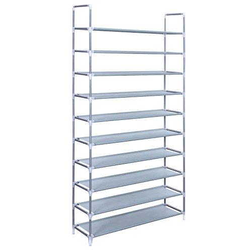 Songmics-10-Tiers-Shoe-Rack-50-Pairs-Non-woven-Fabric-Shoe-Tower-Storage-Organizer-Cabinet-ULSR10G-0