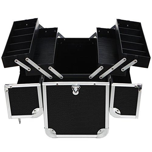 Songmics-Aluminum-Beauty-Makeup-Train-Case-Lockable-Cosmetic-Box-Jewelry-Storage-Organizer-0-0