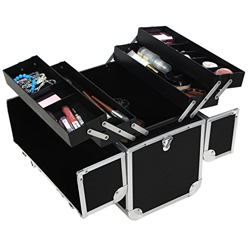 Songmics-Aluminum-Beauty-Makeup-Train-Case-Lockable-Cosmetic-Box-Jewelry-Storage-Organizer-0-1