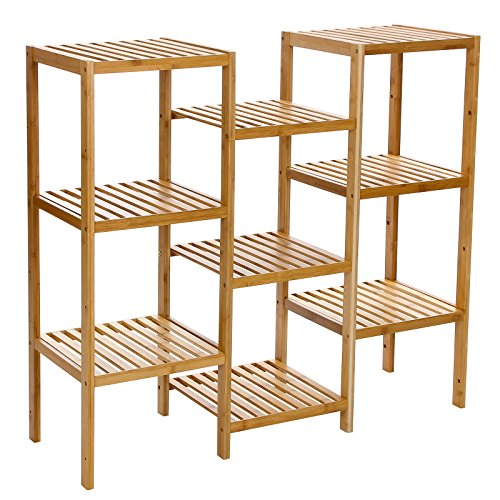 Songmics-Bamboo-Customizable-Utility-Shelf-Bathroom-Rack-Plant-Display-Stand-9-Tier-Storage-Rack-Shelving-Unit-UBCB93Y-0