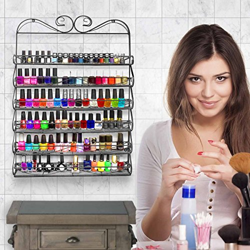 Sorbus-6-Tier-Nail-Polish-Rack-Multi-Purpose-Wall-Organizer-Display-Metal-Vintage-Style-Mountable-Shelf-Holds-at-Least-72-Nail-Polishes-Great-for-Home-Business-Salon-Spa-and-More-0-0
