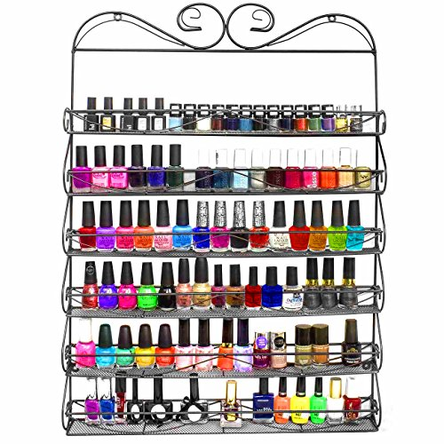 Sorbus-6-Tier-Nail-Polish-Rack-Multi-Purpose-Wall-Organizer-Display-Metal-Vintage-Style-Mountable-Shelf-Holds-at-Least-72-Nail-Polishes-Great-for-Home-Business-Salon-Spa-and-More-0