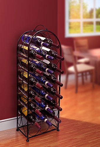 Sorbus-Wine-Rack-Stand-Bordeaux-Chateau-Style-Holds-23-Bottles-of-Your-Favorite-Wine-Elegant-Looking-French-Style-Wine-Rack-to-Compliment-Any-Space-No-Assembly-Required-0-0