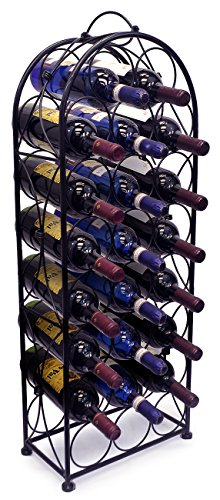 Sorbus-Wine-Rack-Stand-Bordeaux-Chateau-Style-Holds-23-Bottles-of-Your-Favorite-Wine-Elegant-Looking-French-Style-Wine-Rack-to-Compliment-Any-Space-No-Assembly-Required-0