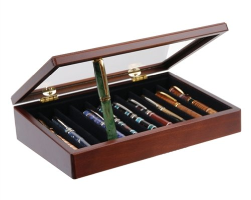 Stained-Mahogany-Display-10-Pens-0-1
