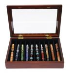 Stained-Mahogany-Display-10-Pens-0