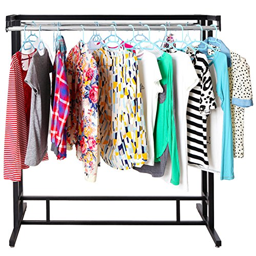 Stainless-Steel-Double-Rod-Hangrail-Department-Store-Style-Clothes-Garment-Floor-Display-Rack-MyGift-0-1