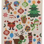 Static-Cling-Window-Decorations-Christmas-Assortment-Snowmen-Snowflakes-Christmas-and-Woodland-Scene-4-Sheets-of-Clings-0-0