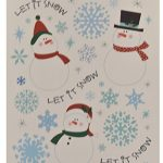Static-Cling-Window-Decorations-Christmas-Assortment-Snowmen-Snowflakes-Christmas-and-Woodland-Scene-4-Sheets-of-Clings-0-1