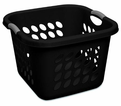 Sterilite-12179006-15-Bushel-53-Liter-Ultra-Square-Laundry-Basket-Black-Basket-w-Titanium-Inserts-6-Pack-0