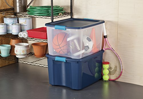 Sterilite-14467406-18-Gallon68-Liter-Latch-and-Carry-True-Blue-Lid-and-Base-with-Blue-Aquarium-Latches-6-Pack-0-1