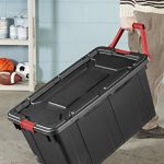 Sterilite-14699002-40-Gallon-151-Liter-Wheeled-Industrial-Tote-Black-Lid-Base-w-Racer-Red-Handle-Latches-2-Pack-0-0