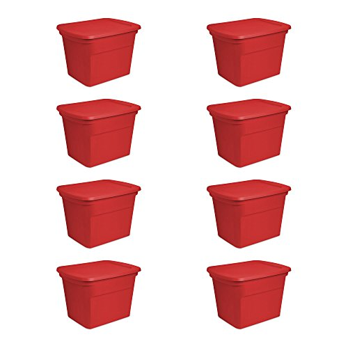 Sterilite-18-Gallon-Holiday-Christmas-Red-Storage-Tote-Set-of-8-0
