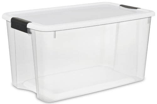 Sterilite-19889804-70-Quart-66-Liter-Ultra-Latch-Box-White-Lid-Clear-Base-w-Latches-4-Pack-0
