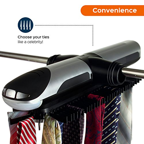 Sterline-Revolving-Motorized-Tie-and-Belt-Rack-with-Built-in-LED-Light-Holds-72-Ties-and-8-Belts-Batteries-are-included-0