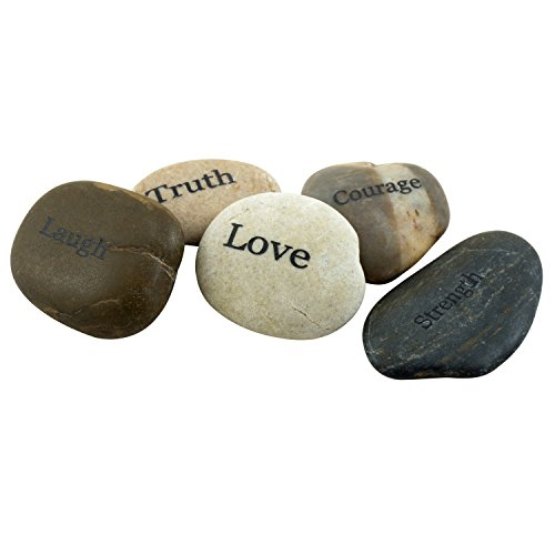 Stonebriar-5pc-Engraved-Inspirational-Stones-Gift-Ideas-Every-Friend-Will-Love-0-0
