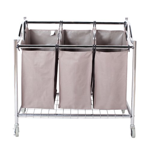 StorageManiac-3-Section-Heavy-Duty-Steel-Rolling-Laundry-Sorter-with-Coating-Frame-0-0