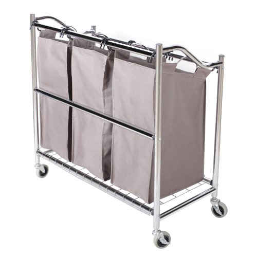StorageManiac-3-Section-Heavy-Duty-Steel-Rolling-Laundry-Sorter-with-Coating-Frame-0-1