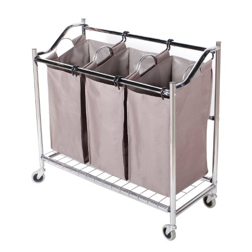 StorageManiac-3-Section-Heavy-Duty-Steel-Rolling-Laundry-Sorter-with-Coating-Frame-0