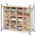 StorageManiac-Free-Standing-Polyester-Canvas-5-Tier-20-Pair-Shoe-Rack-Organizer-0-1