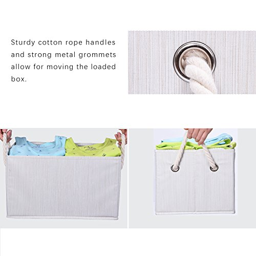 StorageWorks-Polyester-Storage-Box-with-Strong-Cotton-Rope-Handle-Foldable-Basket-Organizer-Bin-3-Pack-0-1