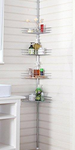 Storagemaniac-Bathtub-and-Shower-Caddy-with-4-Baskets-Satin-Nickel-0-0