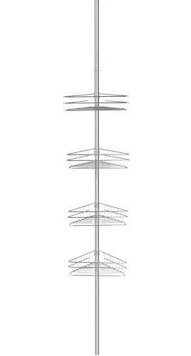 Storagemaniac-Bathtub-and-Shower-Caddy-with-4-Baskets-Satin-Nickel-0