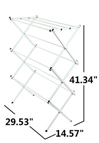 Storagemaniac-Water-Resistant-Drying-Rack-41-Inch-White-0-0