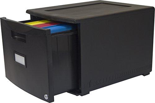 Storex-Single-Drawer-Mini-File-Cabinet-with-Lock-LegalLetter-1825-x-1475-x-1275-Inches-Black-STX61260B01C-0-0