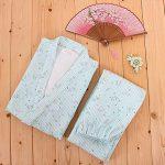 Stripes-Floral-Kimono-Pajamas-Womens-Pajamas-Suit-Pajamas-Pure-Cotton-Pajamas-0-0