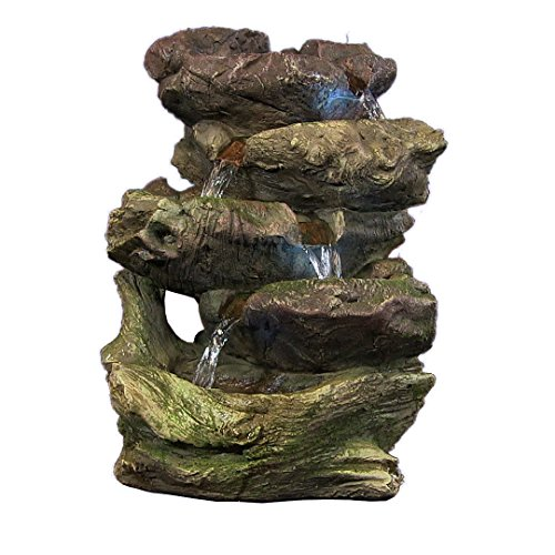 Sunnydaze-5-Step-Rock-Falls-Tabletop-Fountain-with-LED-Lights-14-Inch-Tall-0-0