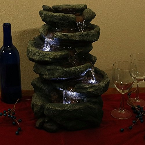 Sunnydaze-6-Tier-Stone-Falls-Tabletop-Water-Fountain-with-LED-Light-10-Inches-Wide-x-15-Inch-Tall-0-1