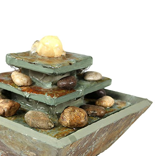 Sunnydaze-Ascending-Slate-Tabletop-Water-Fountain-with-LED-Light-8-Inch-Tall-0-1